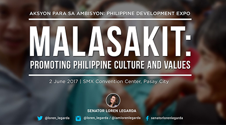Presentation of Senator Loren Legarda on Malasakit - Promoting Philippine Culture and Values