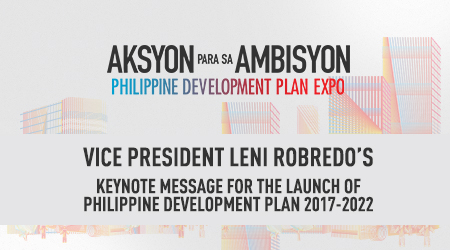 Vice President Maria Leonor G. Robredo's  Keynote Message for the Aksyon Para AmBisyon